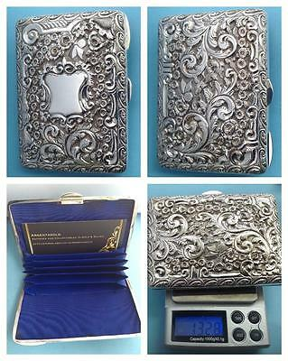 THE BEST EVER VICTORIAN SILVER VISITING CARD CASE BY 'GEORGE UNITE' HM BHAM 1899