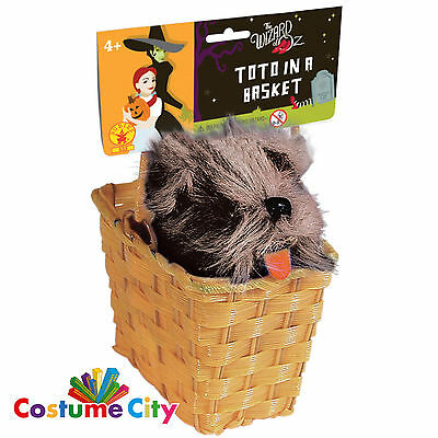 Official Wizard Of Oz Toto In a Basket Fancy Dress Costume Accessory Prop