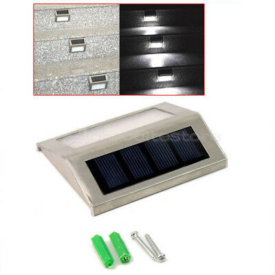Solar Power Bright Light Step Stairs Pathway Deck Garden Lamp With Double LED