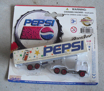 Golden Wheel Pepsi Team Diecast Tractor Trailer Truck #2 NIP