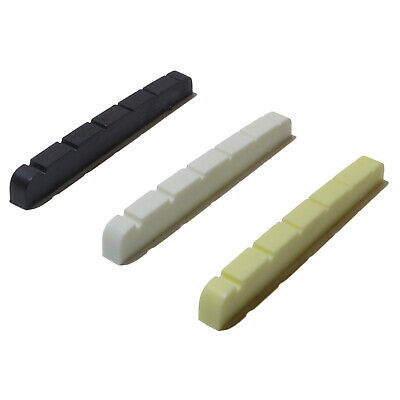 Guitar top nut graphite 42mm x 3.5mm 6 string in black, white or ivory
