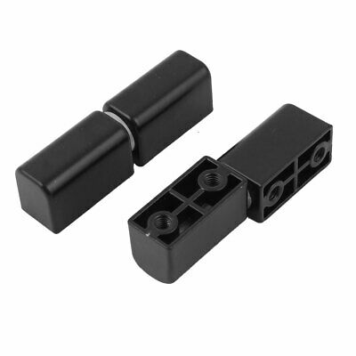 2 Pcs Black Metal Removable Lift Off Hinges 62mm Length for Cabinet Door