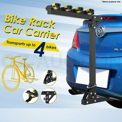 """4 Bicycle Bike Rack Hitch Mount Car Carrier For 2"""" Receivers Steel"""