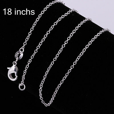 """Free P&P Fashion Lady Top Jewelry Silver 18"""" 1mm Charm Chain Necklace Arinna"""