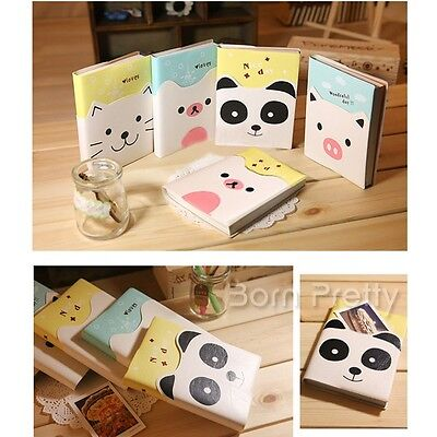 1 PC Small Pure animation Notebook cahier Lovely cuir Journal (Random Pattern)