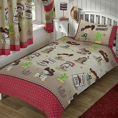 Howdy Cowboy Wild West Bedroom - Bedding & Curtains – Single, Double, Junior