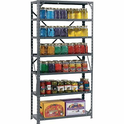 Edsal Steel Canning Shelving -7 Shelves, 30in W x 12in D x 60in H, # HC30127