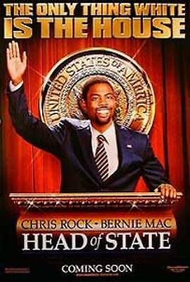 Head Of State Original Movie Poster 27X40 Chris Rock, Double-Sided Advance 27x40
