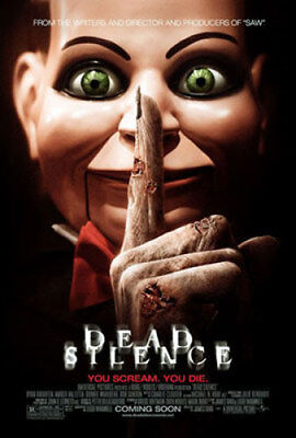 Dead Silence Original Movie Poster 27X40 Donnie Wahlberg, Double-Sided Regular 2