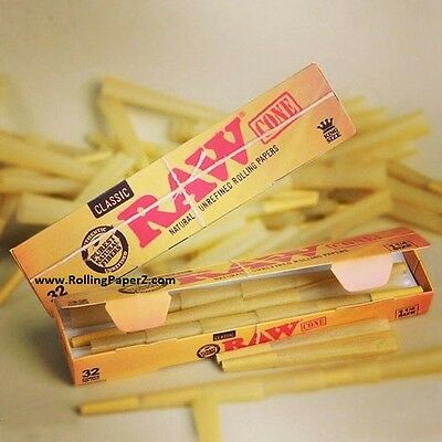 RAW MEGA PACK of 32 CONES - 1 1/4 RAW PreRolled 'Ready to Fill' rolling papers