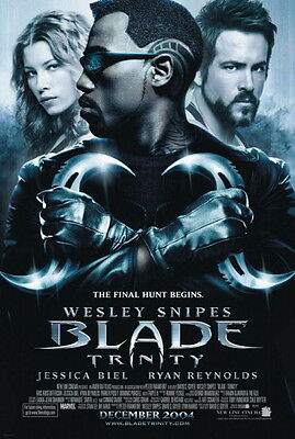 Blade Trinity Original Movie Poster 27X40 Wesley Snipes, Double-Sided Regular 27