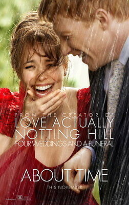 About Time Original Movie Poster Advance Style Domhnall Gleeson Rachel Mcadams,