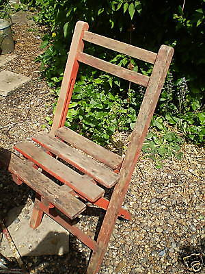 VINTAGE FRENCH 1950's CAFE WOODEN GARDEN CHAIR,GOOD CLEAN CONDITION