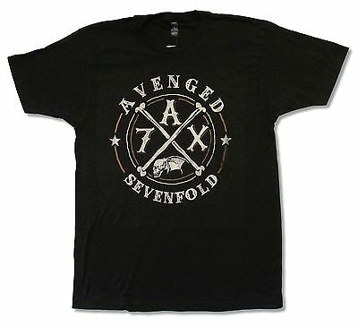 """Avenged Sevenfold """"crossing Over Tour 2014""""  Black T-Shirt New Official A7X"""