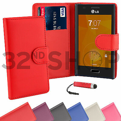 WALLET PU LEATHER CASE COVER FOR LG Optimus L5 II L5ii (E460)  SCREEN PROTECTOR