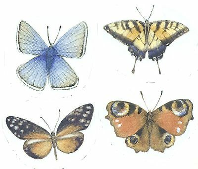 Butterfly Butterflies Blue Yellow Select-A-Size Ceramic Waterslide Decals Bx