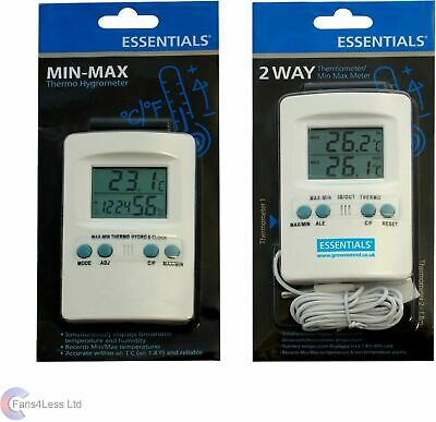 Min Max Hydro or Temperature meter Hydroponic Grow Tent Humidity Sensor