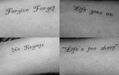 Wrist Temporary Tattoos-Life Statement-Ankle Shoulder Neck Forearm-Slogan Choice