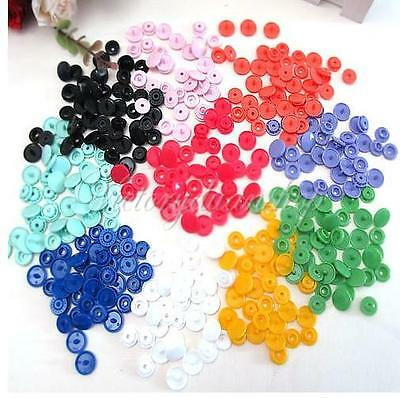100Set T5 KAM Plastic Resin Fastener Snap Button for Baby Cloth Bib Diaper Craft