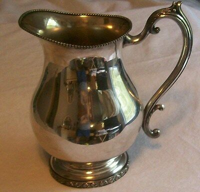 "VINTAGE  8 "" FB ROGERS SILVER CO.1883 TRADEMARK SILVER PLATE OVER COPPER PITCHER"