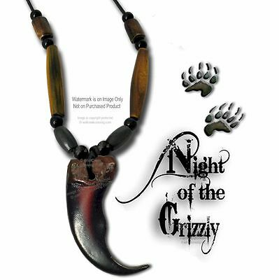 """BEAR - GRIZZLY CLAW NECKLACE for MALE OR FEMALE - 24"""" LEATHER JEWELRY SALE  #G2x"""