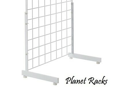 3 Sets - Planet Racks L Shaped Legs for Any Size Grid Panel  - White