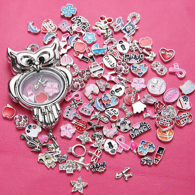 New HOT Wholesale 50pcs Bulk lot Floating Charm for Glass Living Memory Locket