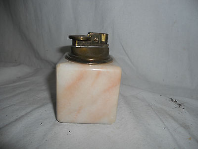 Stunning DECORATIVE Table Lighter GAS Marble ONYX 7cms Square PINK