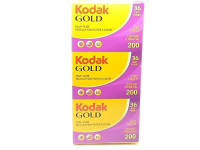 3 x KODAK GOLD 200 35mm 36exp CHEAP COLOUR CAMERA FILM BY 1st CLASS ROYAL MAIL