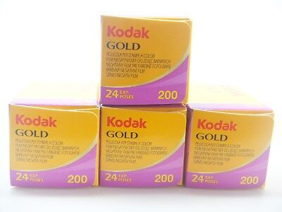 4 x KODAK GOLD 200 35mm 24exp CHEAP COLOUR CAMERA FILM BY 1st CLASS ROYAL MAIL