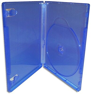 Single =PLAYSTATION/PS4= 14mm Translucent Blue Replacement Game Case 10-Pak