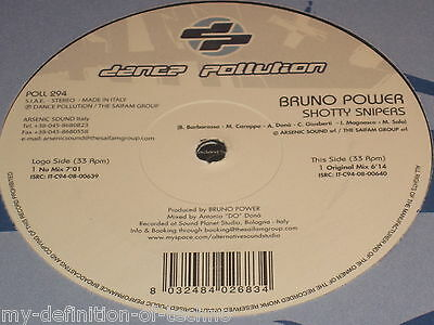 """Bruno Power, Shotty Snipers (Dance Pollution 294) 12"""" Hardstyle"""
