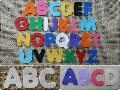 FELT x26 LETTERS ALPHABET 4cm die cuts appliqués Personalise Kids Crafts VARIOUS