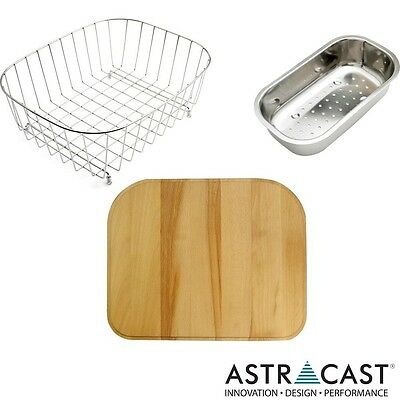 Astracast MSK 1.5 Bowl Kitchen Sink 3pc Accessories Pack MS15ACCPK