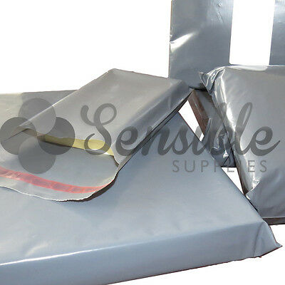 Strong Postal Post GREY Mailing Postage Poly Recycled Bags  *FAST FREE DELIVERY*