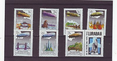 Hungary - Sg3386-3372 Mnh 1981 Graf Zeppelin Flights