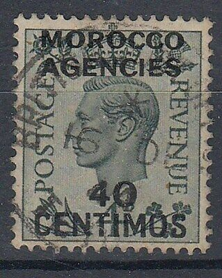 MOROCCO AGENCIES 1937 KGVI 40 CENTIMOS ON 4d. (ID:849/D29138)