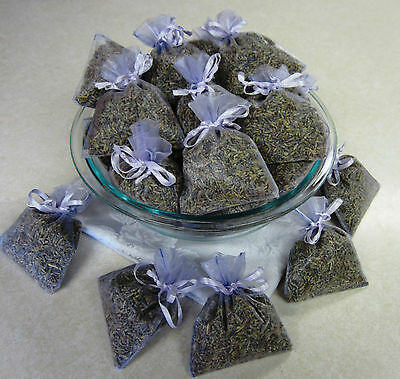 Set of 50 Lavender Sachets made with Lavender Organza Bags