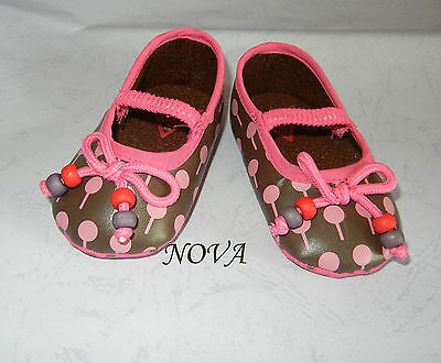 cute fushia pink dot black New Toddler Baby girl Dress faux leather Shoes 3size
