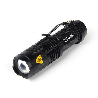 -Newest 3 Mode UltraFire CREE Q5 1200 Lumen 14500 ZOOMABLE LED Flashlight Torch.