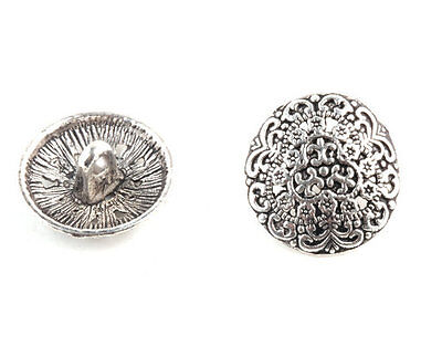 Free Shipping 10 pcs Tibetan Silver Crafts Snaps Round Findings Buttons TA1876