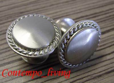 Beaded Brushed Nickel Cabinet Pull Hardware Knobs