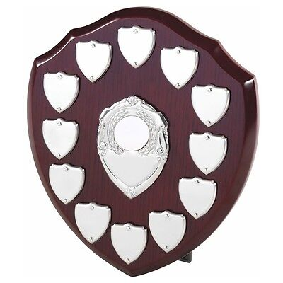 The Multi Sport 12 Year Annual Wooden Shield Award Trophy, Personalised Engraved
