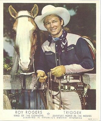 ROY ROGERS & TRIGGER Promotional Photo Late 1940s/1950