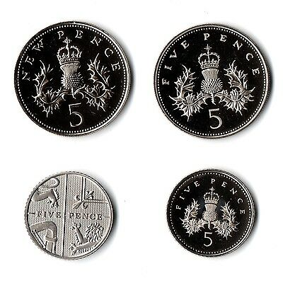 Proof UNC Royal Mint 1982 - 2019 Proof 5p Five Pence Coin