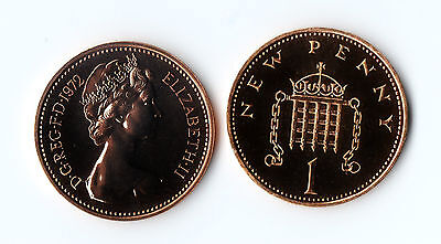 1971 1972 - 1981 Proof 1p One Penny Coin Royal Mint - Proof Uncirculated