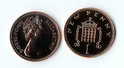 1972- 1981 Proof 1p One Penny Coin Royal Mint - Proof Uncirculated