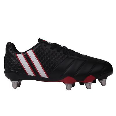Patrick Kids Power X Junior Rugby Boots Lace Up Padded Heel Ankle Collar Shoes