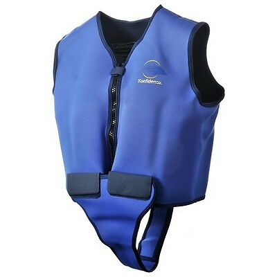 Konfidence Adult Float Swim Jacket Buoyancy Aid Safety Blue and Yellow