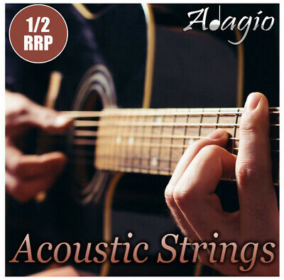 2 PACKS - Adagio Acoustic Guitar Strings - Pro / AntiRust & Choice Of Gauge